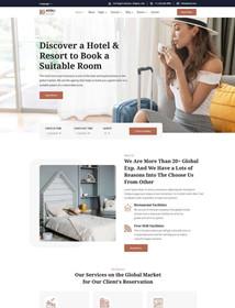Hotel reservation website HTML template