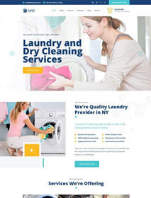 Cleaning and dry cleaning service company website template
