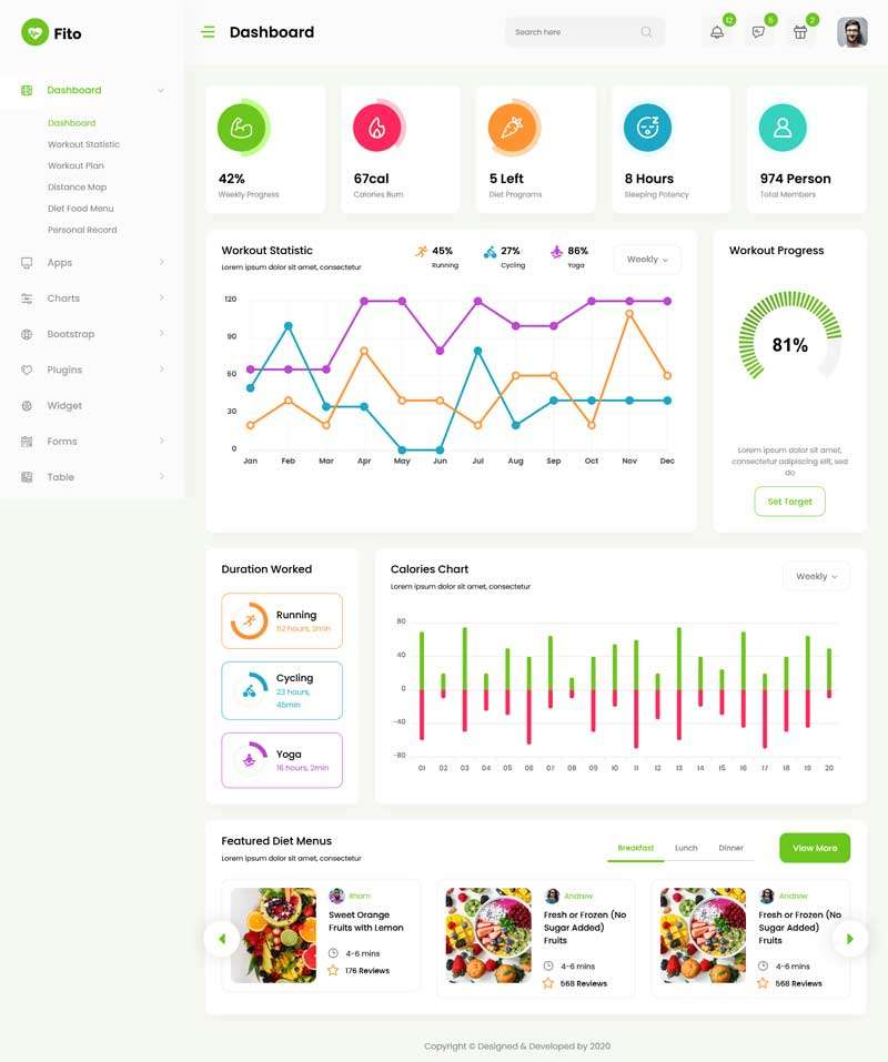 Yoga fitness sports app management system background template