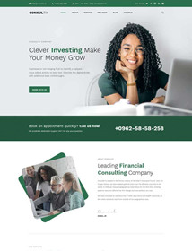Investment company bootstrap website template