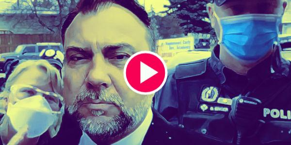 Canadian Covid-Gestapo Attacks Canadian Church Again, But Pastor Wasn't Having It…