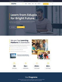 Bootstrap4 course education industry website template