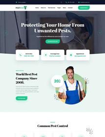 Pest control service company website html template