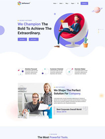 Business consulting service company website HTML template