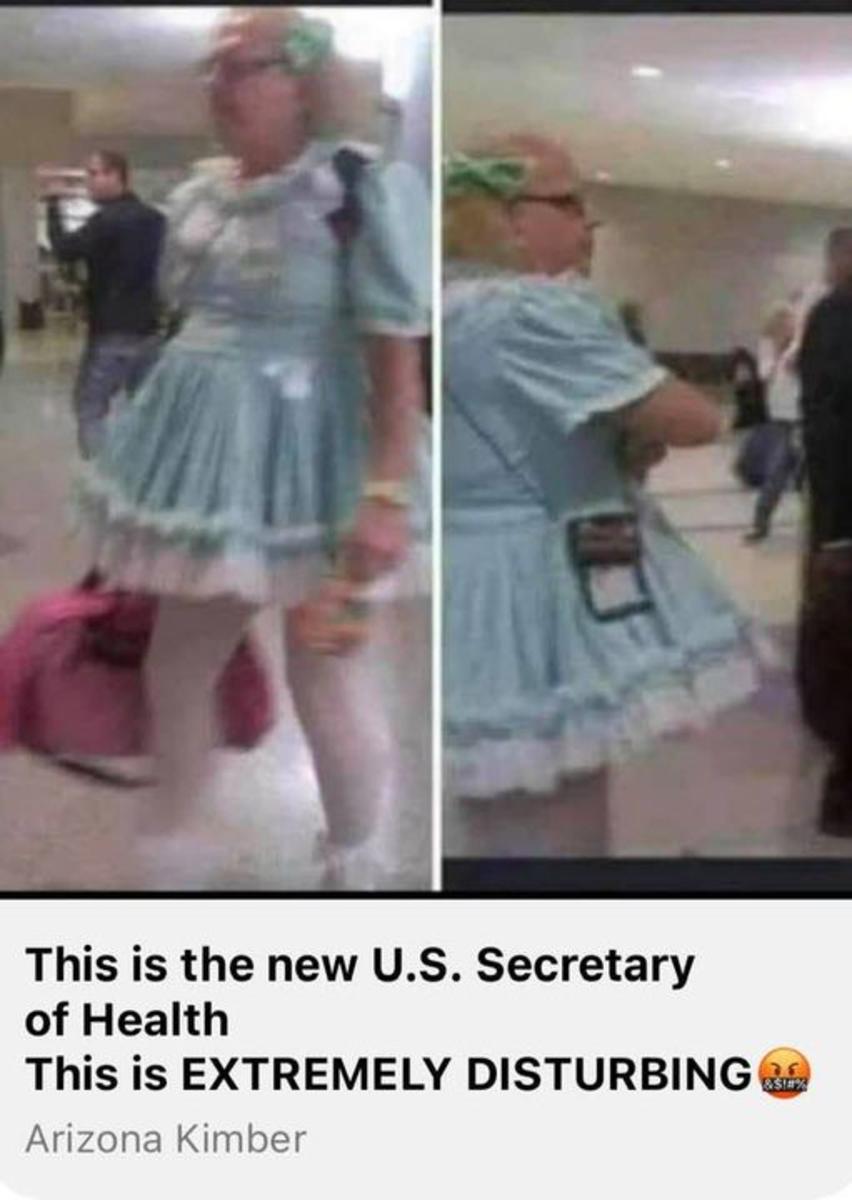 "Meet Biden's degenerate, overweight pick for U.S. Sectary of Health, ""Rachel"" Levine, transgender Jew"