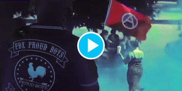 Proud boys and Antifa Clash Near Portland…