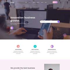 Creative website HTML template