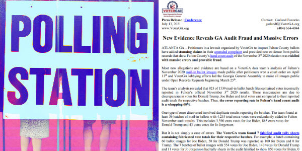 VoterGA has obtained evidence that the election discrepancies in other Georgia counties may be WORSE than those it uncovered in Fulton County…