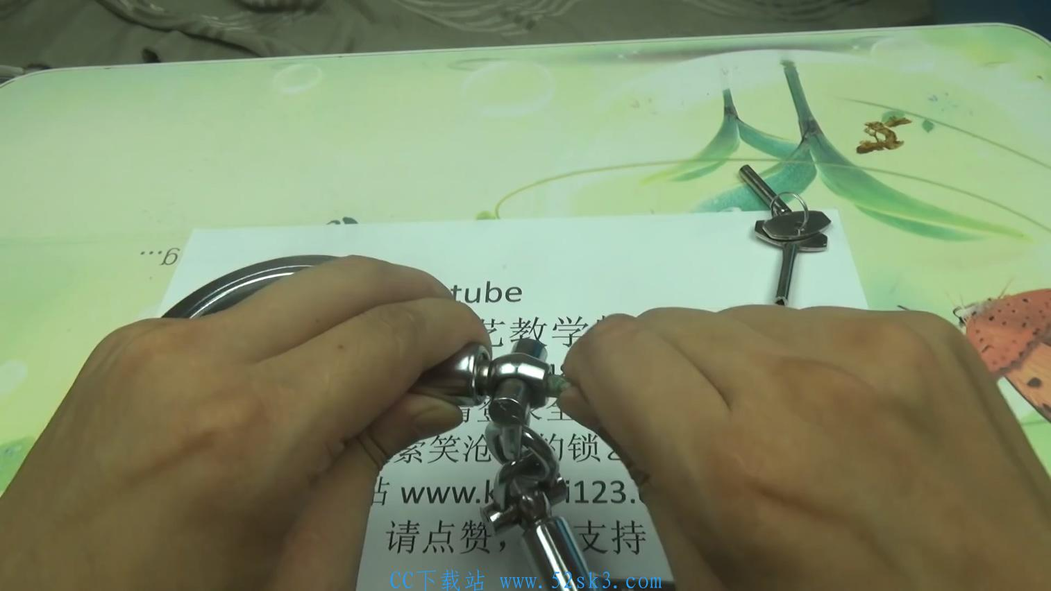 [教程] 用牙签、钢丝开最新款手铐教学