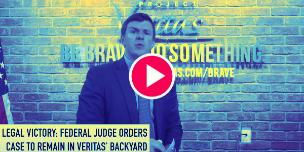 """""""In court, they were thrown for a loop"""" – Project Veritas has legal victory over twitter's attempt to transfer case to California federal court…"""