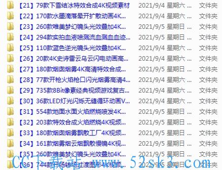 [资源] 非常全的 4063 套视频特效素材