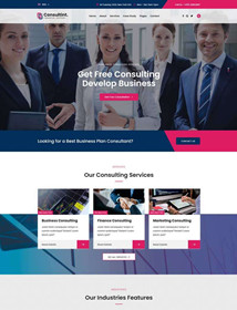 Business consulting, investment management company website Html template