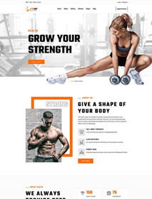 html5 fitness club website template