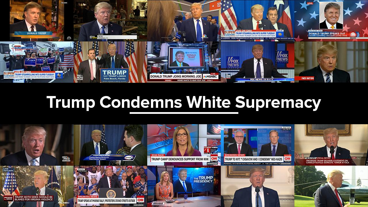 Trump Condemned White Supremacy (and its Leaders) 20 TIMES!
