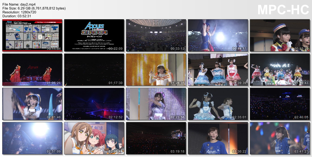Aqours 2nd Love Live! HAPPY PARTY TRAIN TOUR (TV Rip 720p AAC) :: Nyaa